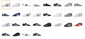 adidas mens court availability of colors