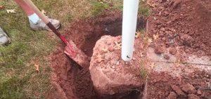 digging of basketball pole 2021